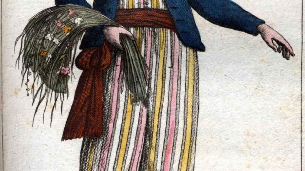 Jeanne Baret según un grabado de la época.
