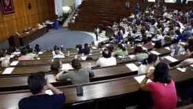 Imagen de archivo de un examen de oposiciones.