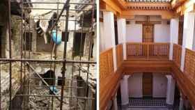 Imagen de una vivienda que fue rehabilitada en Fez