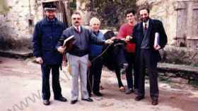 Pinta, con José Costas, su dueño, en el momento de la liberación en 1987.
