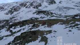 rescate montanero herido monte san millan burgos