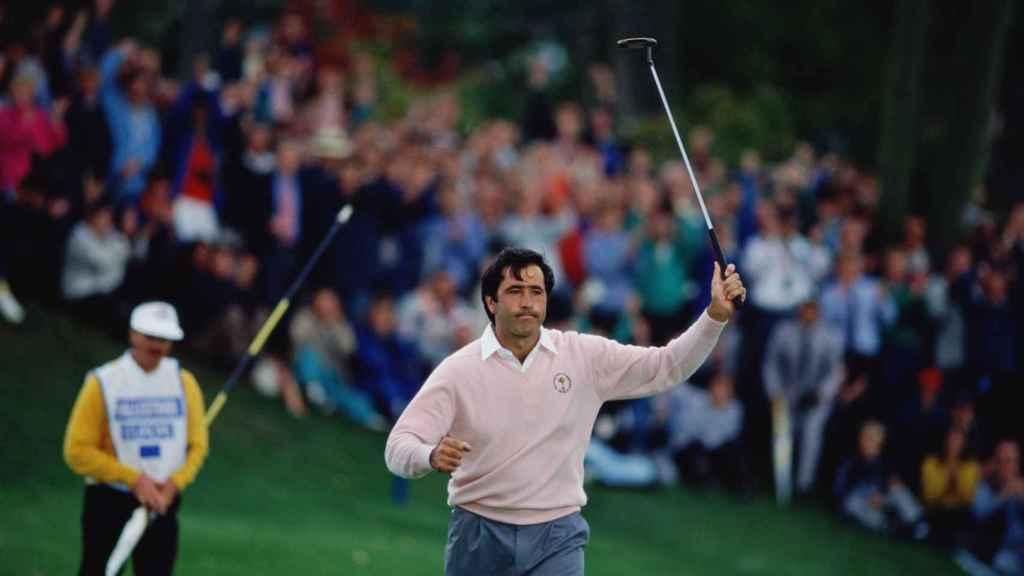 Severiano Ballesteros en la Ryder Cup de 1989.