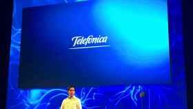 El presidente de Telefónica, José María Álvarez-Pallete, durante la presentación.