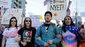 Protestas contra Trump frente a la Casa Blanca la semana pasada.