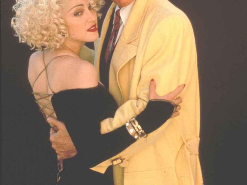 Madonna junto a Warren Beatty.
