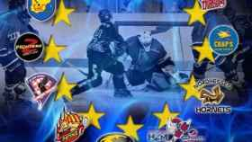cartel copa europa hockey cplv valladolid 1