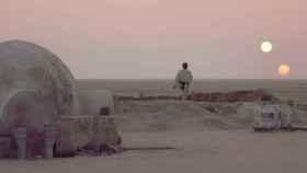 El planeta de dos soles Tattoine, de la 'Guerra de las galaxias'