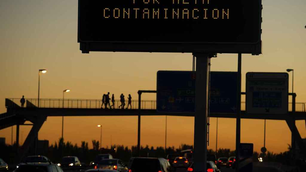 Alerta por alta contaminación en noviembre de 2015, Madrid.