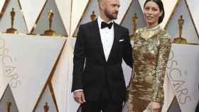 Justin Timberlake y Jessica Biel en su llegada a los Oscar.