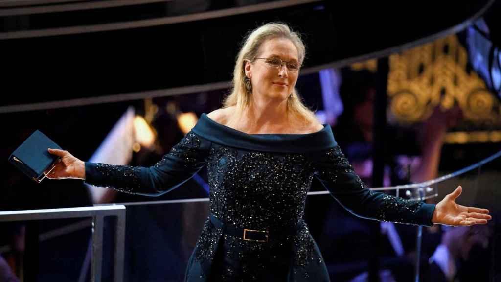 Meryl Streep con un diseño de Elie Saab en la 89º Edición de los Oscar. | Foto: Getty Images.