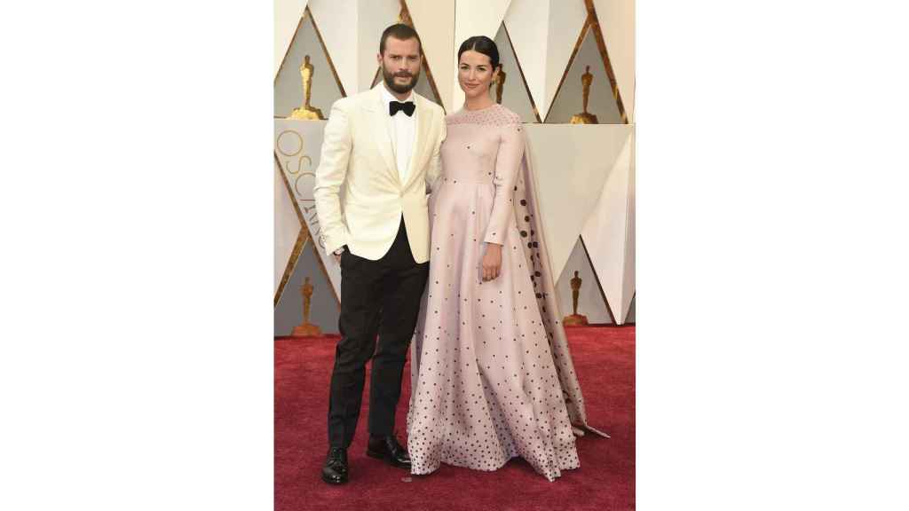 Jamie Dornan, left, and Amelia Warner