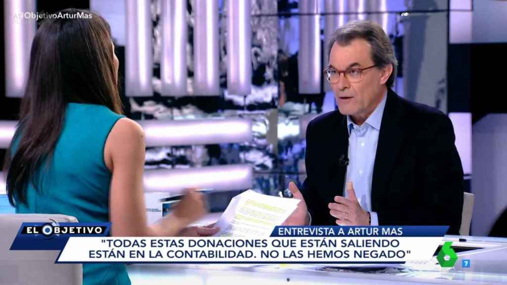 Artur Mas, durante el programa.
