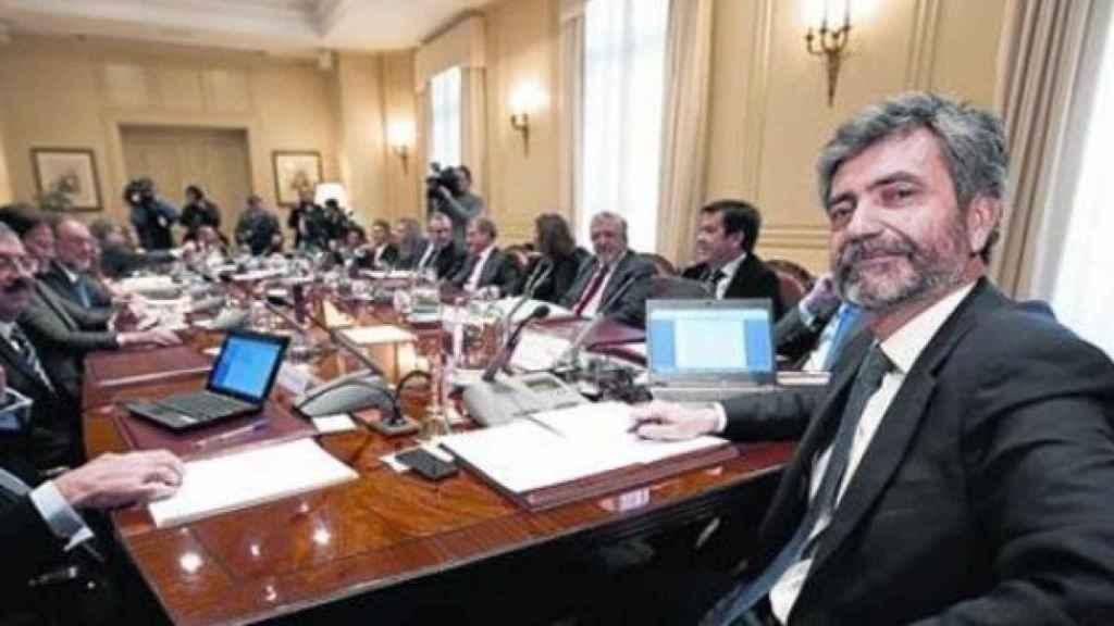 Reunión del Consejo General del Poder Judicial presidida por Lesmes