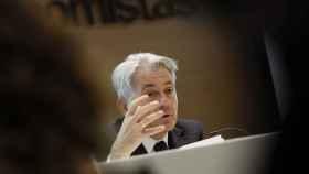 El presidente del Consejo General de Economistas, Valentín Pich, durante la presentación hoy del estudio Panorama de la fiscalidad autonómica y foral 2017.