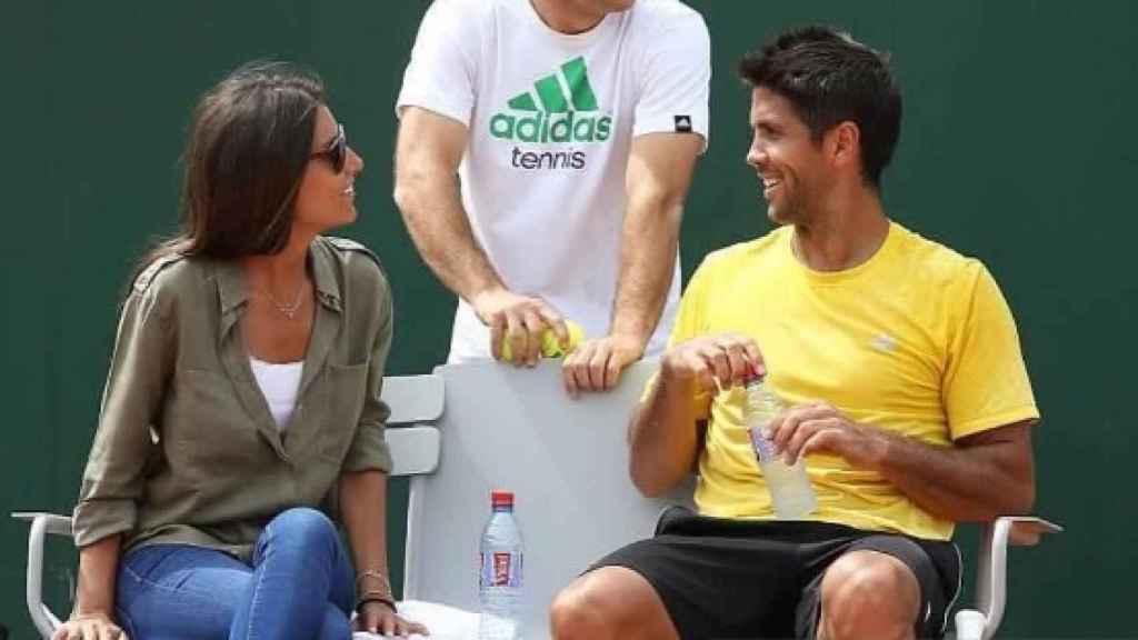 Ana Boyer y Fernando Verdasco en el Roland Garros.