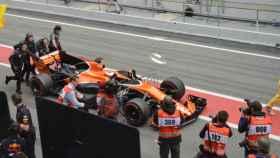 El McLaren de Vandoorne.
