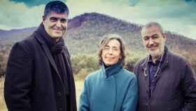 Los tres arquitectos premiados con el Nobel de la arquitectura.