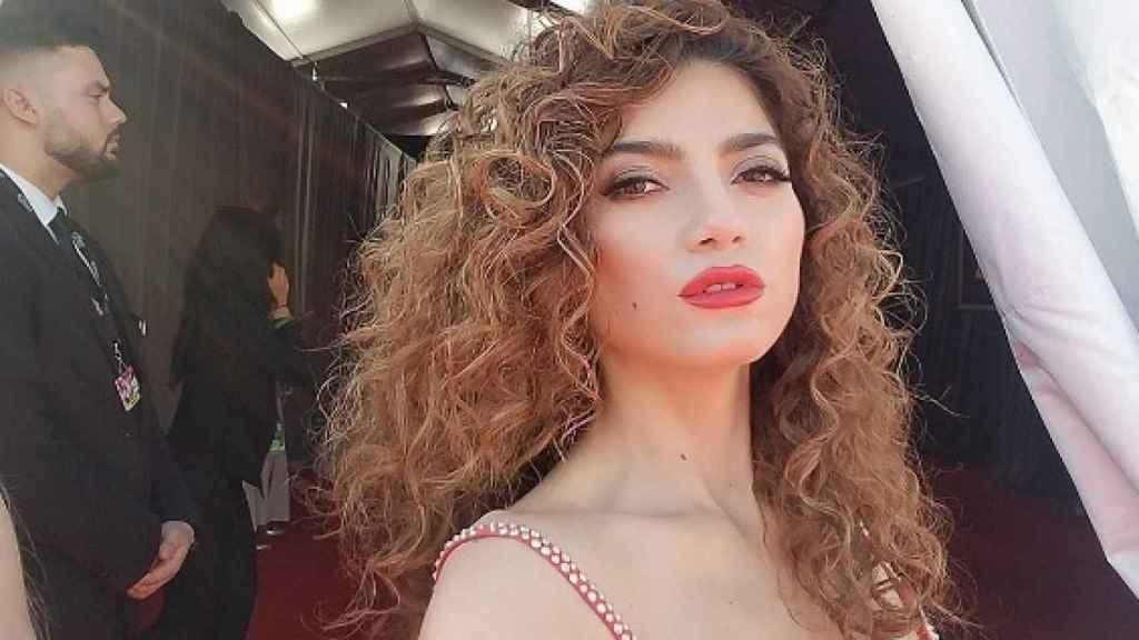 Blanca Blanco, durante la entrega de los premios Grammy, hace varias semanas.