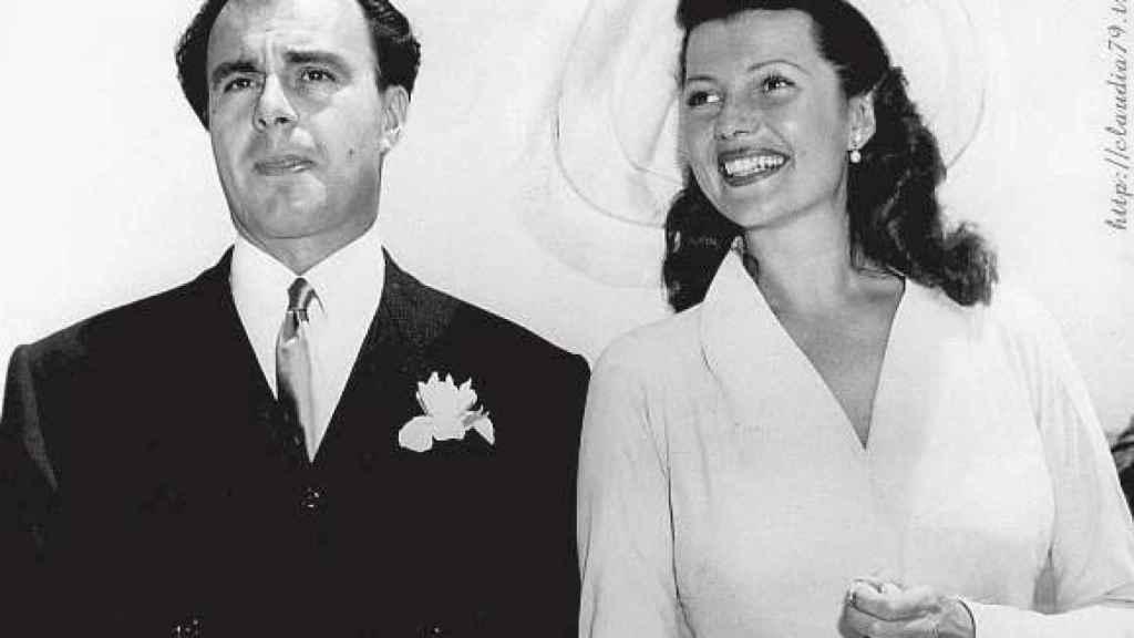 El padre del actual Aga Khan en su boda con la actriz Rita Hayworth
