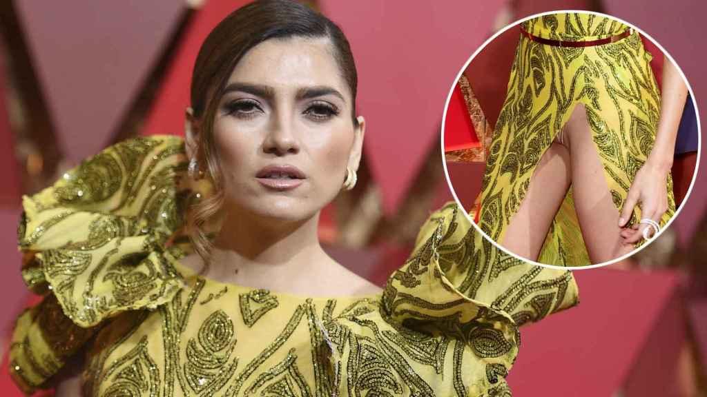 Blanca Blanco y su controvertida imagen en la gala de los Oscar.