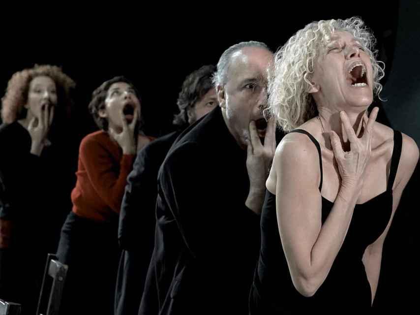 Un ensayo de la obra de teatro Festen, en el Centro Dramático Nacional.