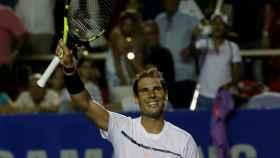 Rafael Nadal, tras ganar su primer partido en Acapulco.