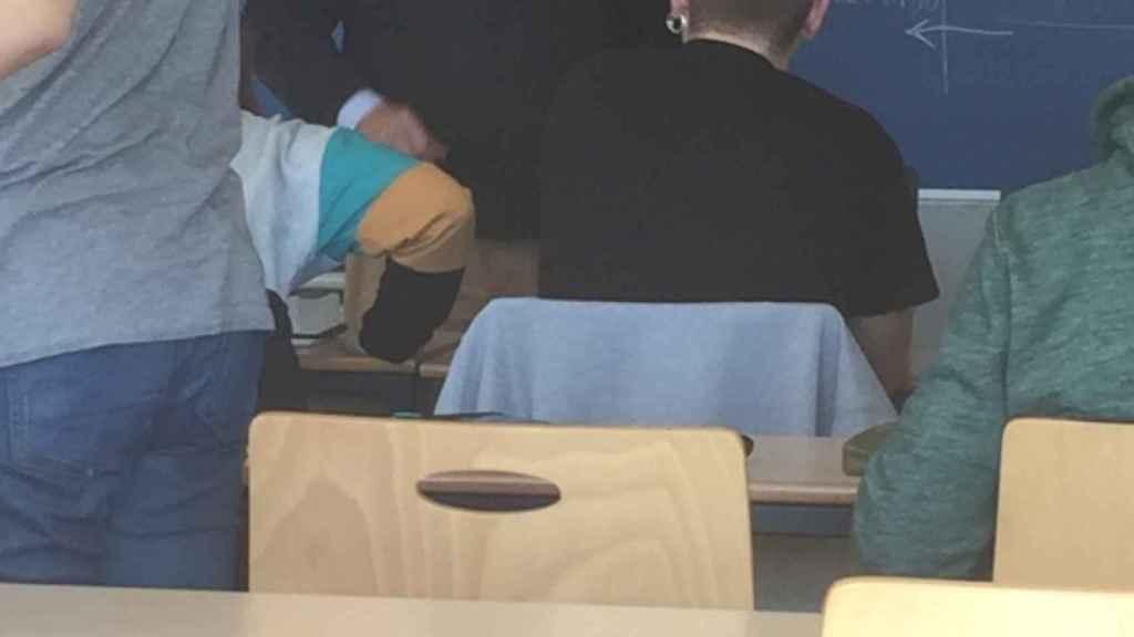 José Antonio Moral Santín, en clase.