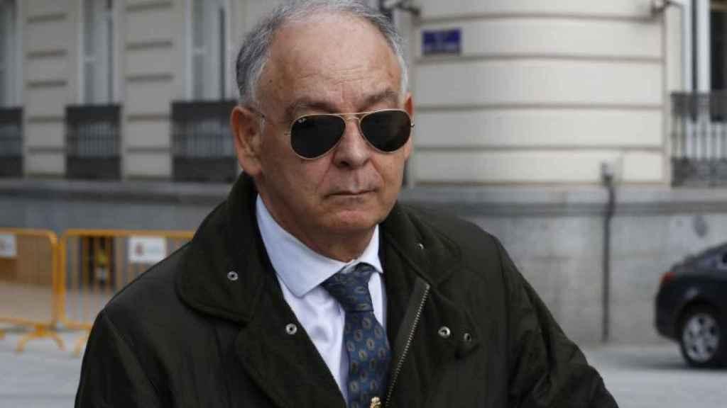 El ex número 2 de la Policía, Eugenio Pino, a su llegada a la Audiencia Nacional.