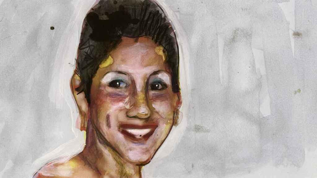 Ilustración de Erika Lorena Bonilla basada en una imagen real de la decimonovena víctima de la violencia machista.