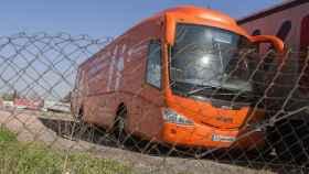 El autobús de HazteOir retenido durante la mañana de este miércoles