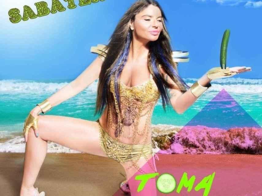 Leticia Sabater en la portada de su single.