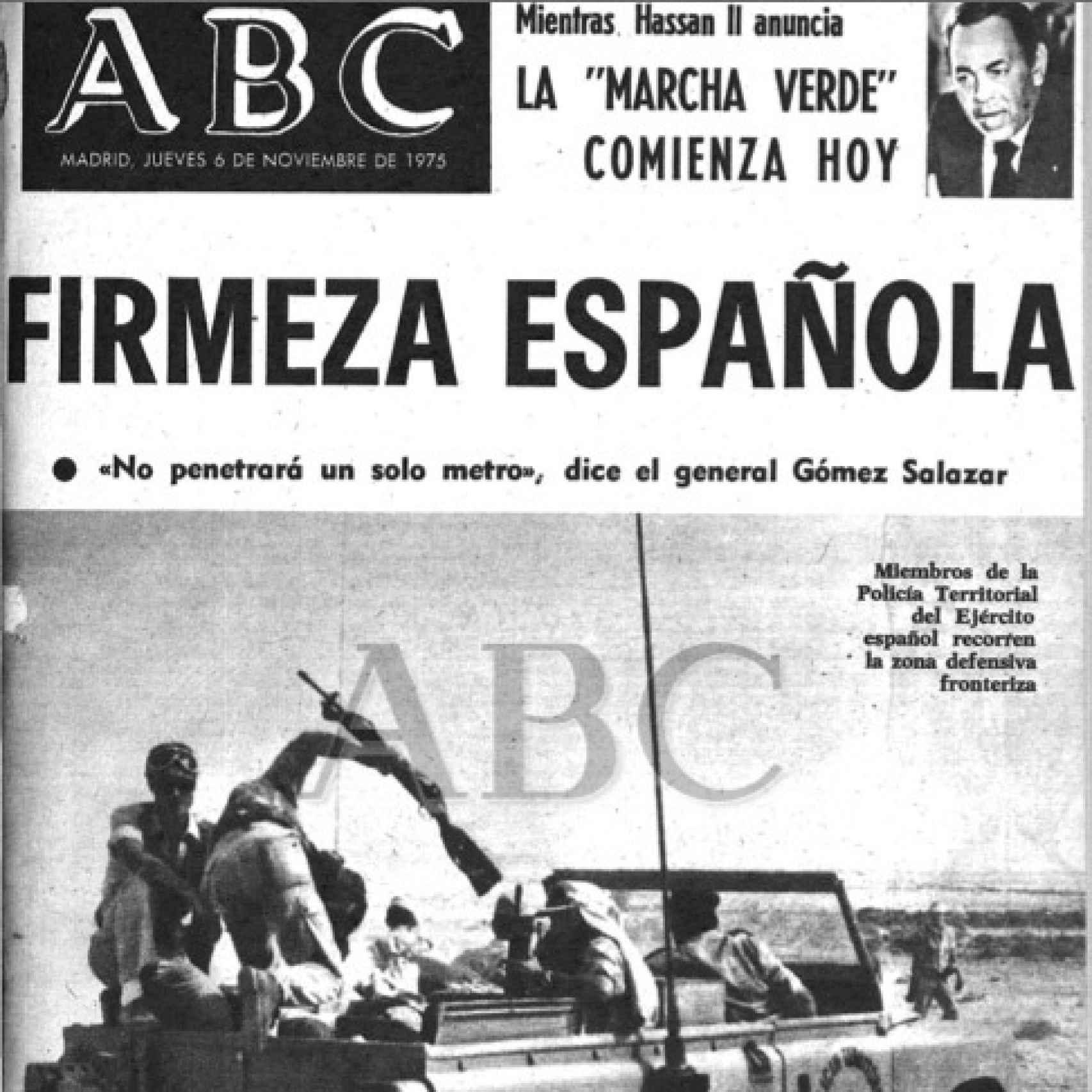 La portada de ABC del 6 de noviembre de 1975.