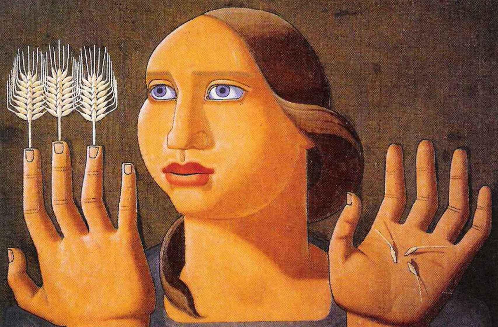 El cuadro Sorpresa del trigo, de 1936.