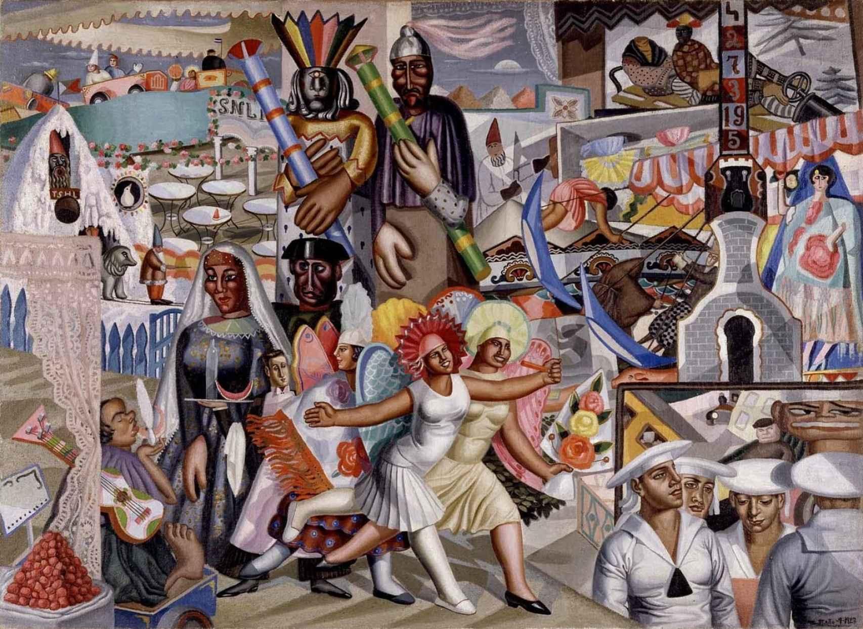 La verbena (1927), en el Museo Nacional Centro de Arte Reina Sofía.