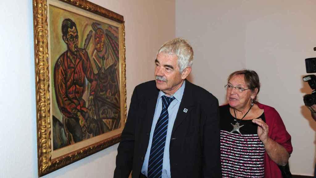 El ex alcalde y su mujer, Diana Garrigosa, en una exposición de Joan Miró en 2011