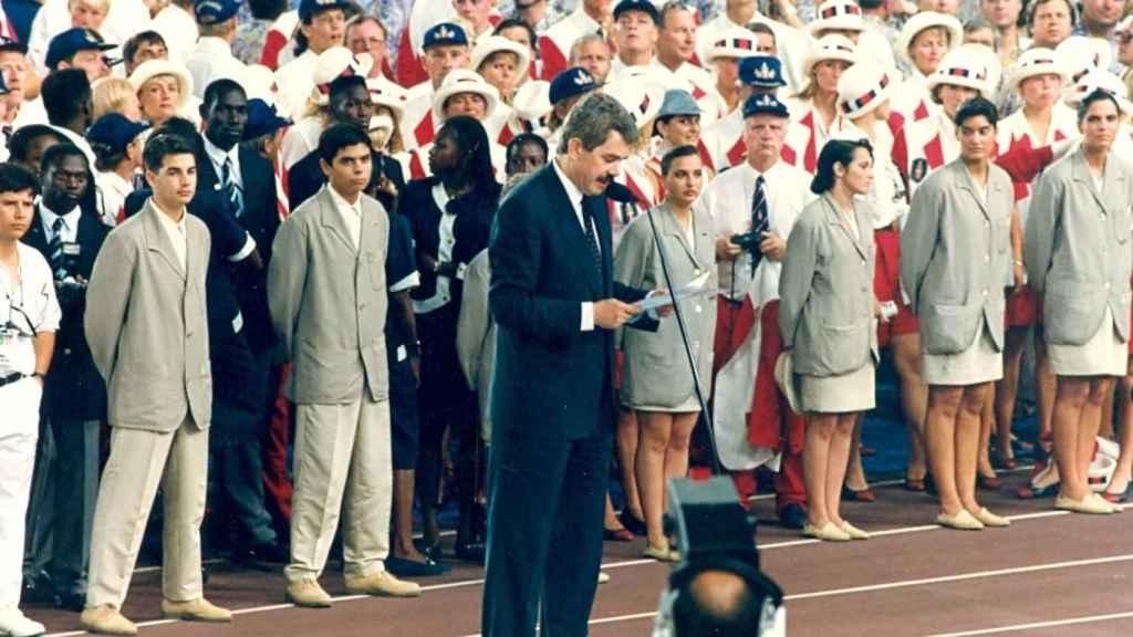 Cuando era alcalde, Pasqual Maragal inauguró los Juegos Olímpicos de Barcelona 1992