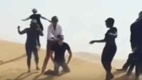 Fotograma del polémico vídeo que ha corrido por las redes sociales.