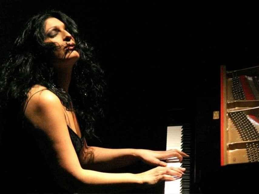Rosario Montoya durante una de sus actuaciones.