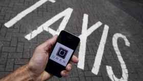 La aplicación de Uber.