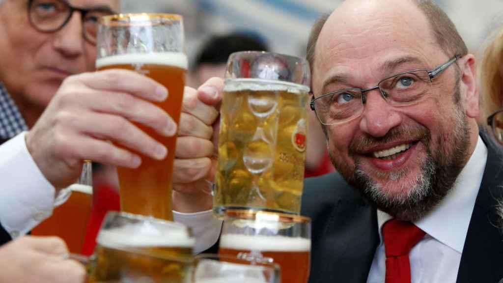 Schulz, en un acto de campaña.