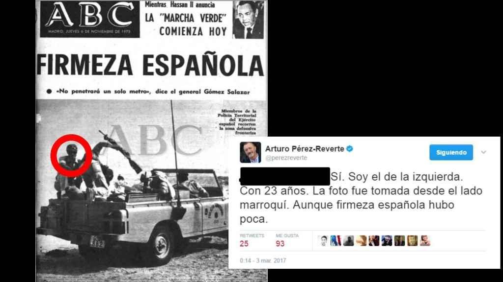 Arturo Pérez-Reverte se reconoce en la portada de ABC de 1975