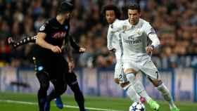 Cristiano Ronaldo frente al Nápoles