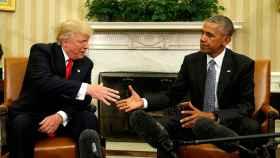 Trump y Obama, en el Despacho Oval durante el traspaso de poderes.
