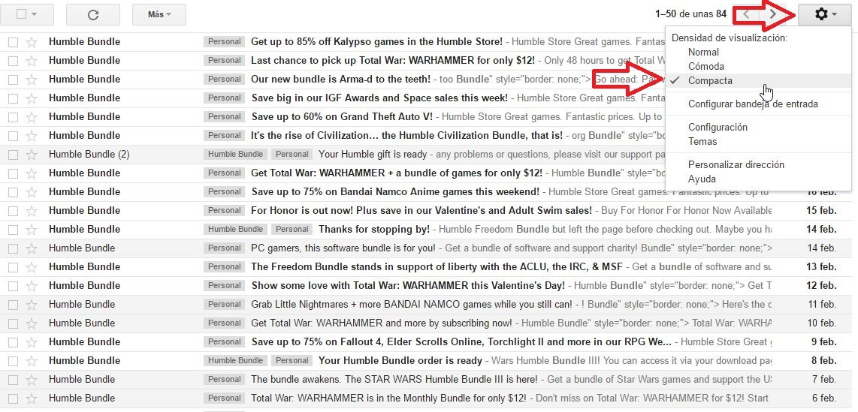 Gmail compacto