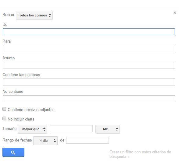 Búsqueda avanzada Gmail