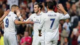 La BBC en un partido del Madrid