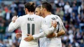 La BBC celebra un gol