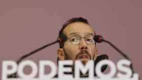 Pablo Echenique este lunes en la sede de Podemos.
