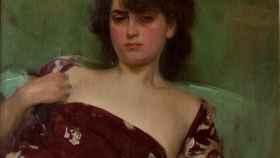 Júlia en granate, pintada en 1906 por Ramon Casas.