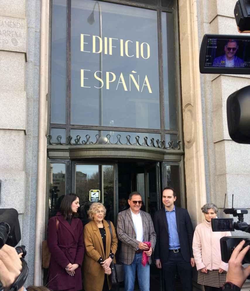 Rita Maestre, Manuela Carmena, Trinitario Casanova, José Manuel Calvo y Nines Martín.